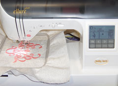 embroidering with an embroidery machine