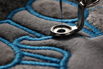 machine embroidery close-up