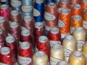 embroidery thread spools